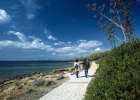 europe, greece, saronikos, saronida, beach, pedestrian, path
